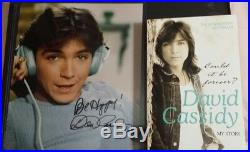 David Cassidy lot Signed Autographed Framed photo + Could it be Forever Book COA
