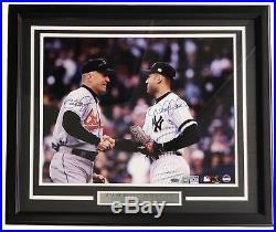 Derek Jeter Cal Ripken Jr Signed Framed 16x20 Photo 155/500 Steiner+SI COA