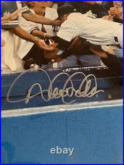 Derek Jeter NY Yankees The Dive Signed 16x20 Color Photo Framed STEINER / MLB