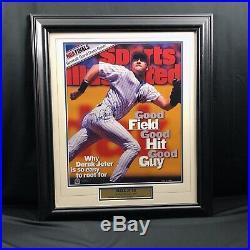 Derek Jeter New York Yankees Signed framed matted 16x20 photo STEINER Autograph