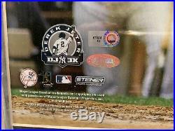 Derek Jeter Signed 16x20 Framed 3000 Hit Photo New York Yankees Steiner Mlb