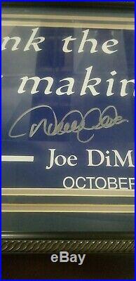 Derek Jeter Signed Framed 12x30 DiMaggio Quote Sign Steiner MLB COA Yankees