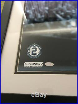 Derek Jeter Signed Framed 16x20 Final At-Bat Steiner COA