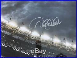 Derek Jeter Signed Le Walking To Dugout Hof Coa Photo 16x20 Framed Steiner Mlb