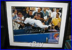 Derek Jeter Signed Photo The Dive Vs Redsox 16x20 Framed Steiner