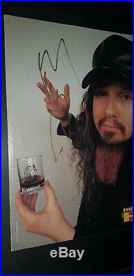 Dimebag Hand Signed Poster With Coa Pantera Framed 8x10 Photo Authentic