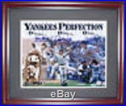Don Larsen David Cone David Wells Signed Framed 11x14 Pg Yankees Photo Agent Coa