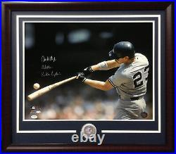 Don Mattingly Signed 16x20 photo ins hitman Yankees Captain framed coin auto JSA