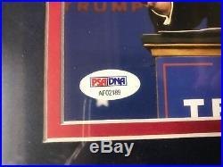 Donald Trump Autograph Signed 11x14 Photo Framed PSA PSA/DNA