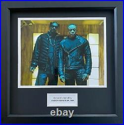 Dr. Dre & Snoop Dogg Hand Signed Music Photo In 14x11 Frame Display, See Proof