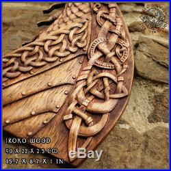 Drakar Dragon Viking Boat Odin Valhalla Home Decor Norse Thor Wood Picture Pagan
