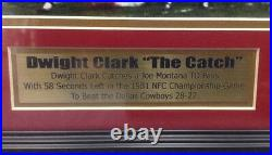 Dwight Clark Signed Autographed & Framed 16x20 Photo With JSA The Catch SF 49ers