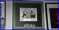 EMINEM D12 SIGNED PROOF AUTOGRAPH (x6) PRESS PIC Framed BAS RARE Slim Shady D-12