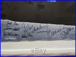 Earth Rise Photo Signed by John Glenn + 8 Apollo Astronauts, Framed 27 x 23