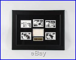 Eddie Cochran Signed Cut with Photos Framed COA JSA & Provenance LOA