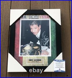 Eddie Guerrero Signed & Inscribed Framed WWE Champion 8x10 Photo Beckett COA