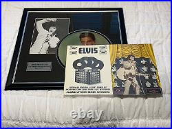 Elvis Presley Hand Signed Personally Autograph Framed Picture And Menu With Coa