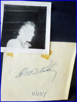 Elvis Presley Jsa Loa Signed 1958 Album Page Withphoto At Signing Framed Autograph