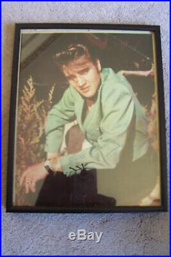 Elvis Presley Original Autograph Signed Framed Photo 8x10 From Estate Sale In Ct