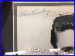 Elvis Presley framed relic signed photo autograph auto COA