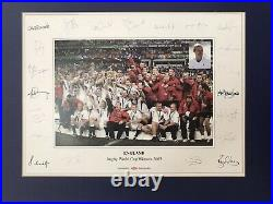 England Rugby 2003 World Cup Winners Photo Signed & Framed Extremely Rare