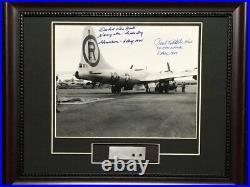 Enola Gay B-29 Framed WW2 Photo Paul Tibbets Dutch Van Kirk Signed + Metal Skin