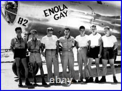 Enola Gay B-29 Nose Framed Print Signed by Navigator Dutch Van Kirk With Relic