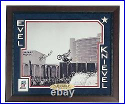 Evel Knievel Signed Caesars Palace Jump 16x Frame COA PSA Autograph Ceasars Evil