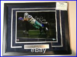 Ezekiel Elliott Autograph Signed Cowboys Spotlight 11x14 Photo Framed Fanatics