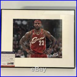 FRAMED Autographed/Signed LEBRON JAMES Cleveland Cavaliers 8x10 Photo PSA COA