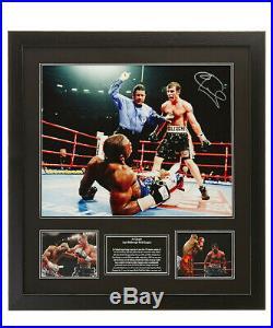 FRAMED JOE CALZAGHE SIGNED 16x20 BOXING PHOTO v LACY WORLD CHAMPION COA PROOF