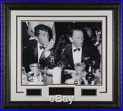 FRANK SINATRA & DEAN MARTIN Laser Signed 16x20 Drinking Photo Framed Display