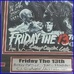 FRIDAY the 13th 4X Signed 8x10 Photo Framed BETSY PALMER KANE + BAS BECKETT COA
