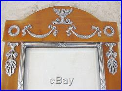 Faberge Neoclassical Pair of Photograph Frames Silver 84, Nevalainen, signed