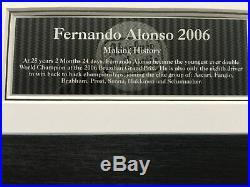 Fernando Alonso 2006 Championship Winning Year- Signed Framed Photo RRP £275