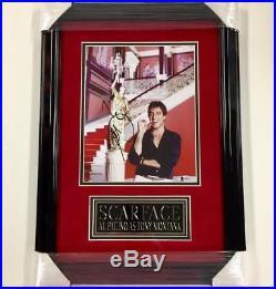 Framed AL PACINO Autograph SCARFACE Signed 8x10 Photo with Beckett BAS COA
