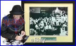 Framed Alex Hurricane Higgins Rare Signed Snooker Photograph With Proof & Coa