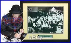 Framed Alex Hurricane Higgins Rare Signed Snooker Photograph With Proof & Coa