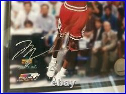 Framed Autographed Michael Jordan 8x10 Photo Signed Auto Chicago Bulls