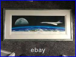 Framed Concorde Picture, British Airways, Signed By Pilots 131/250. With COA