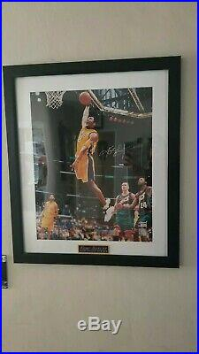Framed Kobe Bryant Signed 16x20 Photo Autographed AUTO PSA/DNA COA Lakers