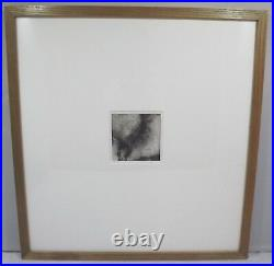 Framed Miriam Robinson Original Charcoal Drawing Abstract Picture