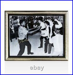 Framed Muhammad Ali Signed Photo With The Beatles Autograph