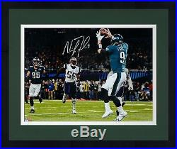 Framed Nick Foles Eagles SB LII Champs Signed 16 x 20 Philly Special TD Photo