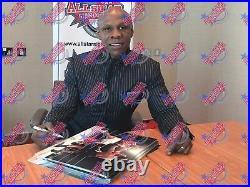 Framed Nigel Benn & Chris Eubank Dual Signed Boxing Photo Proof & Coa