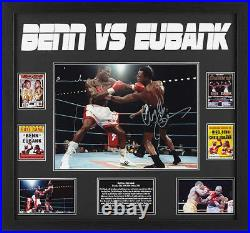 Framed Nigel Benn & Chris Eubank Dual Signed Boxing Photograph See Proof & Coa