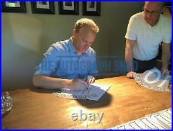 Framed Photo Proof Dennis Bergkamp Hand Signed Arsenal Shirt Coa Autograph