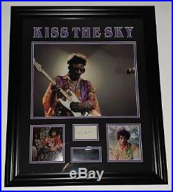 Framed RARE Jimi Hendrix Signed Photo Picture Autograph Display