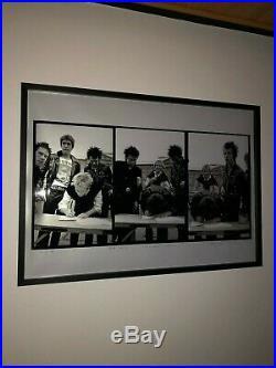 Framed Sex Pistols'a&m Signing' Genuine Peter Kodick Gravelle Signed Print
