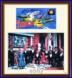 Framed Thunderbirds Photo & First Day Cover Signed by Cast & Gerry Anderson